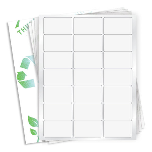 "2.5"" x 1.5""  (21 Label/Sheet) Case of 1000 Sheets"