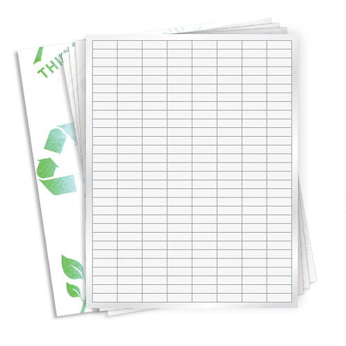 """1"""" x 9mm  ( 240 Label/Sheet) Case of 1000 Sheets"""