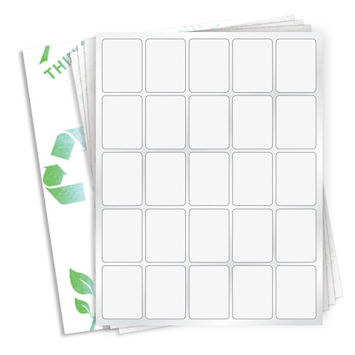 """1.5"""" x 2""""  (25 Label/Sheet) Case of 1000 Sheets"""
