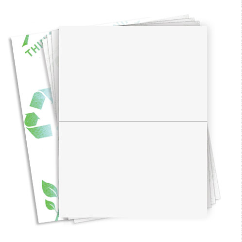 "8.5"" x 5.5""  (2 Label/Sheet)  Case of 1000 Sheets"