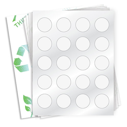 "1.5"" Circle  (20 Label/Sheet) Case of 1000 Sheets"