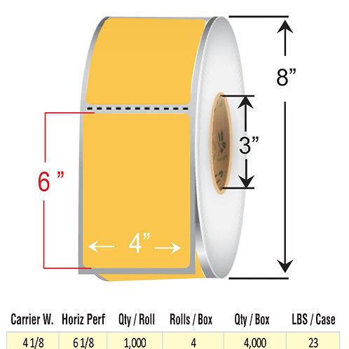 "4"" x  6"" ORANGE Thermal Transfer Roll"