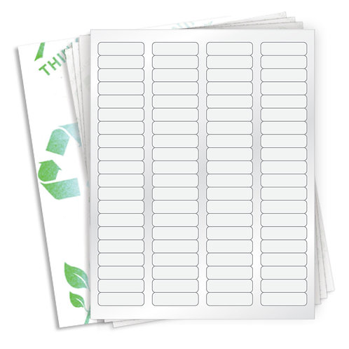 "1.75"" x 0.5""  (80 Label/Sheet) Case of 1000 Sheets"