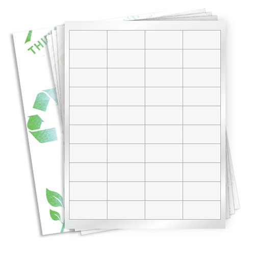 "2"" x 1""  (40 Label/Sheet) Case of 1000 Sheets"