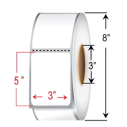 """5"""" x  3"""" Direct Thermal Transfer Roll"""