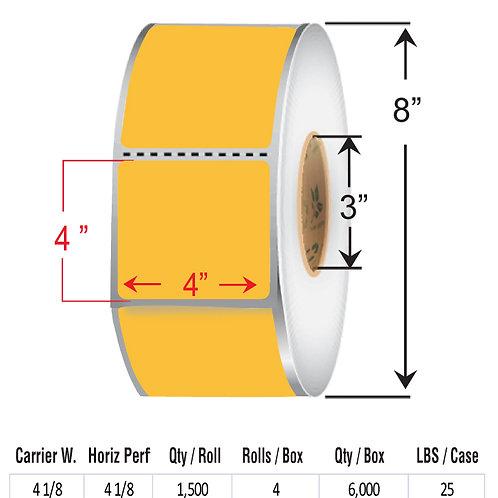 "4"" x  4""  ORANGE Thermal Transfer Roll"