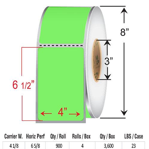 "4"" x  6.5"" FLOUR GREEN Thermal Transfer Roll"