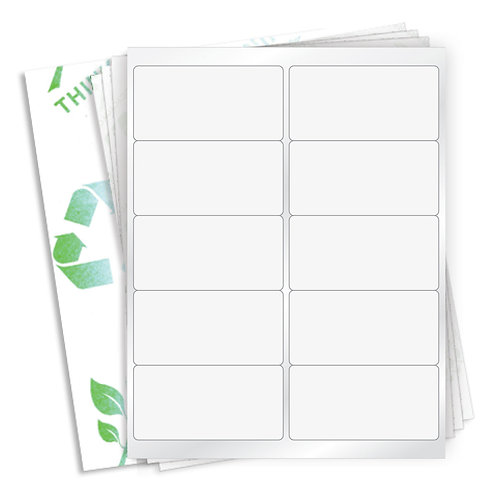 """4"""" x 2""""  (10 Label/Sheet) Case of 1000 Sheets"""