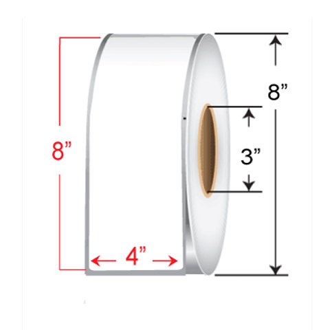 "4"" x  8"" Direct Thermal Transfer Roll"