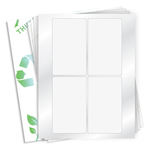 "3"" x 5""  (4 Label/Sheet) Case of 1000 Sheets"
