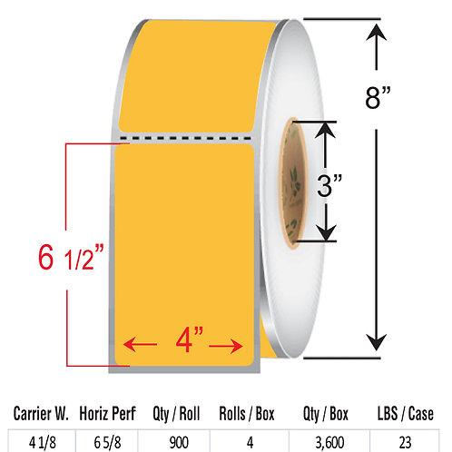 "4"" x  6.5"" FLOUR ORANGE Thermal Transfer Roll"