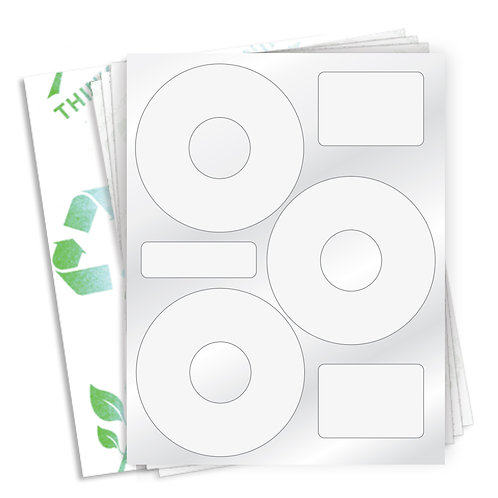 "4.5"" CD  (3 Label/Sheet) Case of 1000 Sheets"