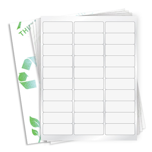 "2.625"" x 1""  (30 Label/Sheet) Case of 1000 Sheets"