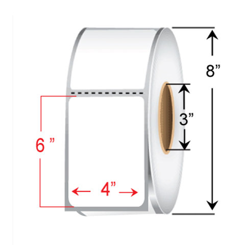 """4"""" x  6"""" Direct Thermal Transfer Roll"""