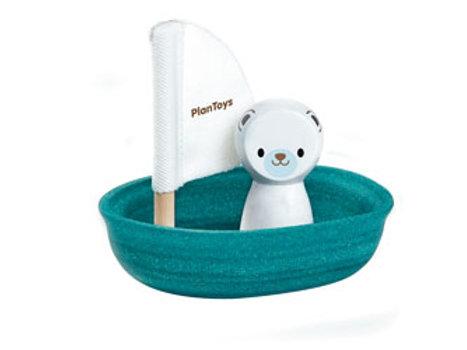 Plan Toys   Sailing Boat Polar Bear