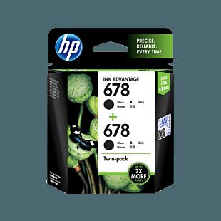 HP 678 BLACK 2-PACK ORIGINAL