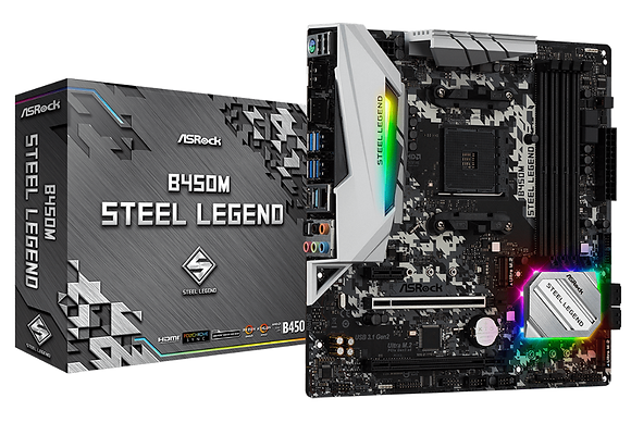 ASROCK B450M STEEL LEGEND (SOCKET AM4)