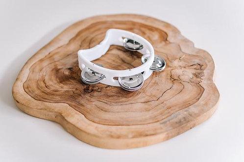 Babynoise   Mini White Tambourine