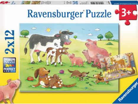 Ravensburger | Animal's Children Puzzle 12 Piece