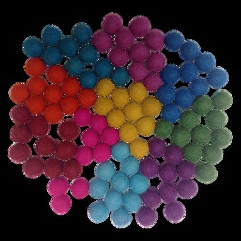 Papoose |  Summer Pompoms 1.5cm 100pc