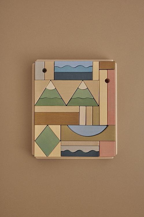 Raduga Grez | Mountains Building Block Set
