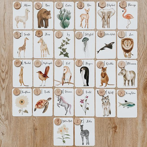 Jo Collier Designs | Natures ABC Flashcards