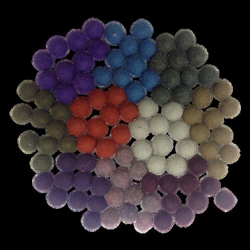 Papoose |  Winter Pompoms 1.5cm 100pc