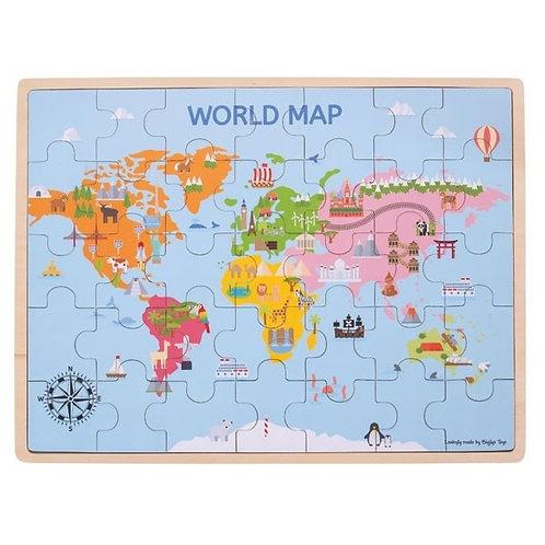 Bigjigs | World Map Puzzle