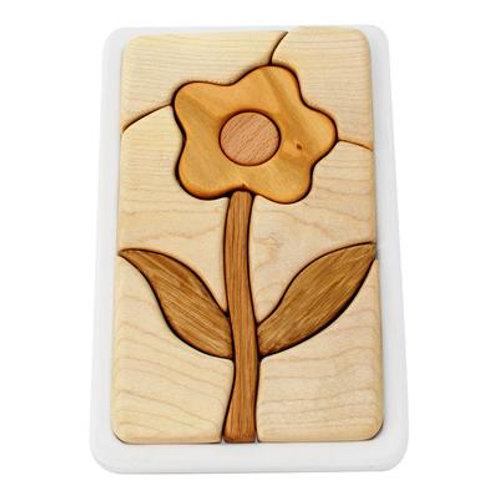 Wooden Mosaic Puzzle - Flower