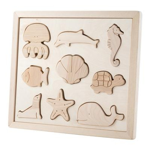 Kubi Dubi | Wooden Sorting Puzzle (Sea Creatures)