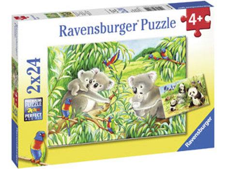 Ravensburger | Sweet Koalas & Pandas Puzzle 24 Piece