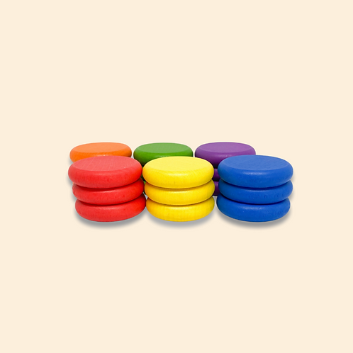 Totli   Wooden Coins Rainbow