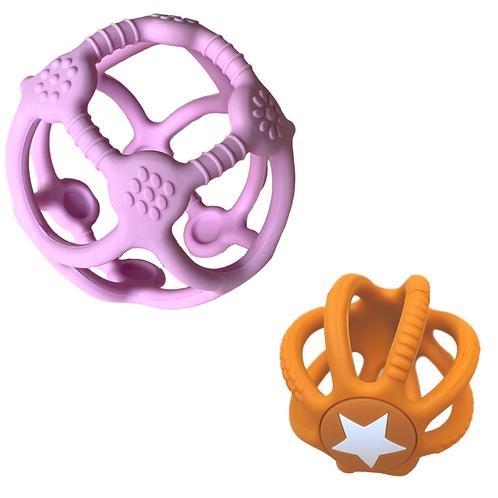 Jellystone | 2 Pack Sensory Ball & Fidget Ball (Bubblegum & Honey)