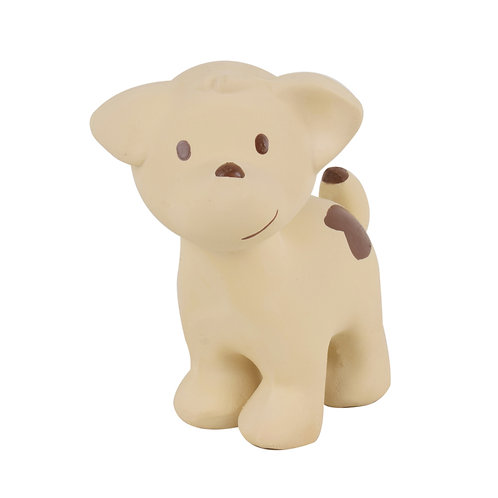 Tikiri   Natural Rubber Rattle and Bath Toy (Puppy)