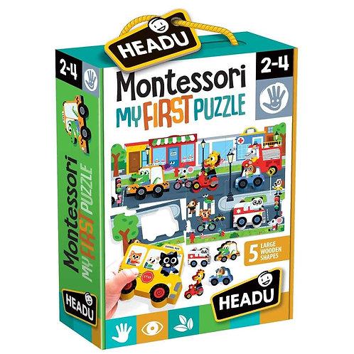 Headu | Montessori My First Puzzle - The City