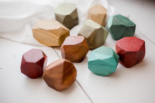 Qtoys | Coloured Wooden Gems