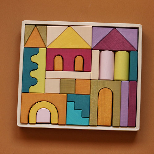 Skandico | House Building Block Set - Pastel
