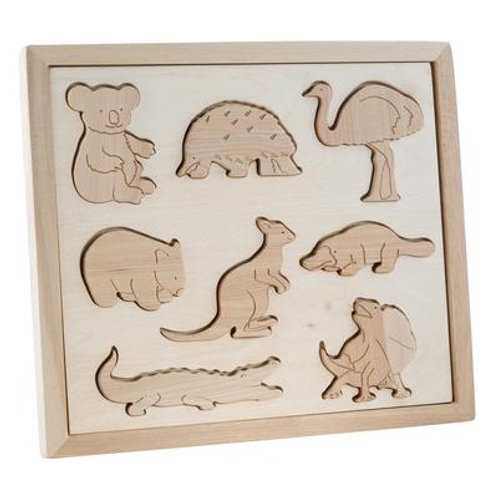 Kubi Dubi | Wooden Sorting Puzzle (Animals of Australia)