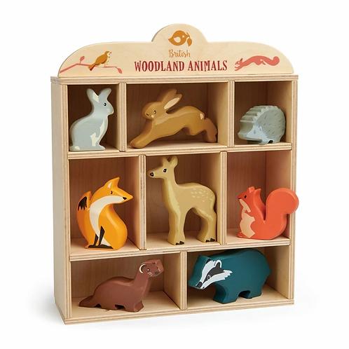 Tender Leaf | Woodland Animals Shelf Set