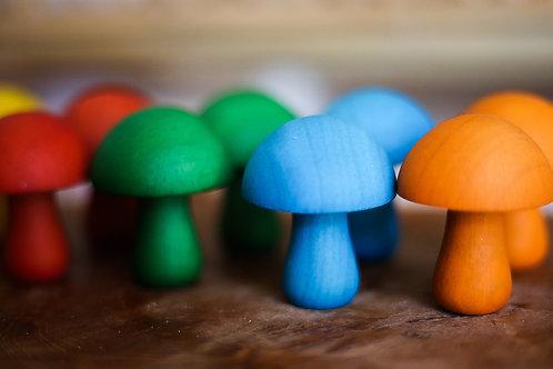 Qtoys   Coloured Mushroom Set of 10