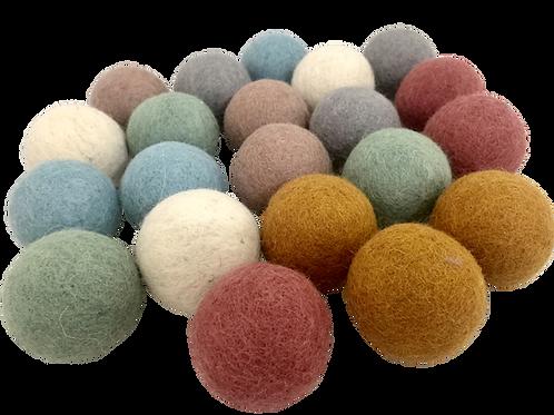 Papoose    Earth Felt Balls 5cm 49pc