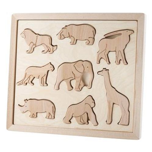 Kubi Dubi | Wooden Sorting Puzzle (Animals of Africa)