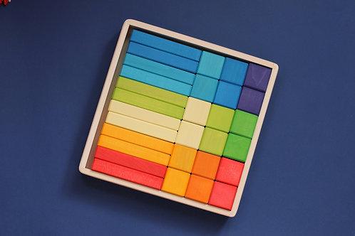 Skandico   Blocks  & Bricks Set - Rainbow