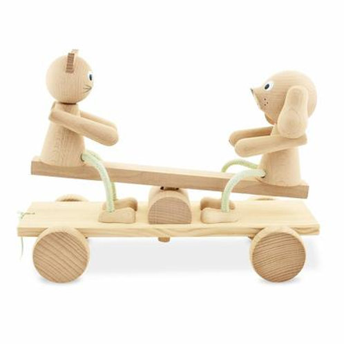 Wooden See Saw Pull Along - Carl & Coco