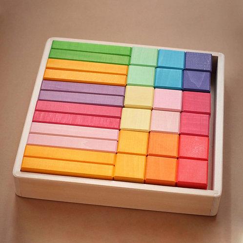 Skandico   Blocks  & Bricks Set - Pastel