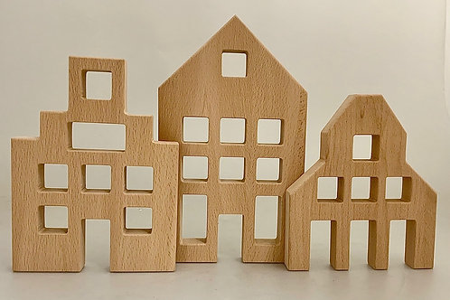 Papoose |  Dutch Wooden Houses 3pc