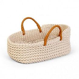 Astrup   Doll Knitted Basket & Bedding Set (35-40cm)