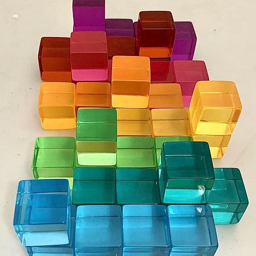 Papoose   Bright Lucite Cubes 40pc