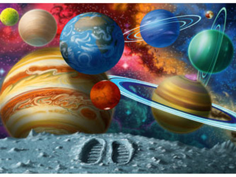 Ravensburger   Stepping Into Space Puzzle 24 Piece