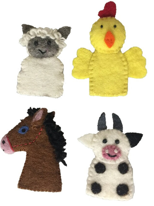 Papoose | Farm Animal Finger Puppets 4pc